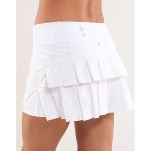 Lululemon Run Pace Setter Skirt Skort White 10 M